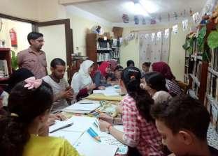 ورشة لتعليم الأطفال رسوم البورتريه في بيت ثقافة شبرا بالبحيرة