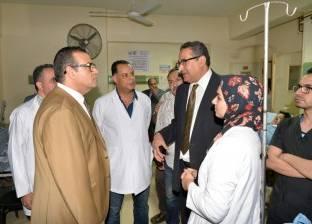 رئيس جامعة المنصورة يتفقد مستشفى النقاهة لبحث تطوير الخدمات الطبية