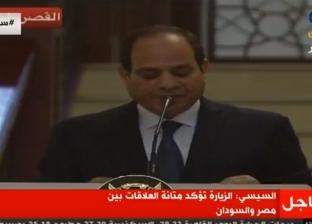 """السيسي: """"الربط الكهربائي"""" بين مصر والسودان يعزز من فرص التبادل التجاري"""