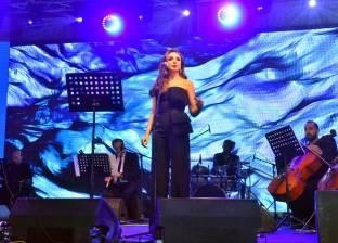 بالصور| أنغام تتألق في حفل غنائي لصالح أحد البنوك