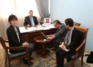 """مستشار """"التعليم العالي"""" للبحث العلمي يلتقي مدير حديقة """"كيوتو"""" البحثية"""