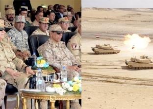 """رئيس الأركان وقادة عسكريون عرب يشهدون المرحلة الرئيسية لـ""""درع العرب-1"""""""