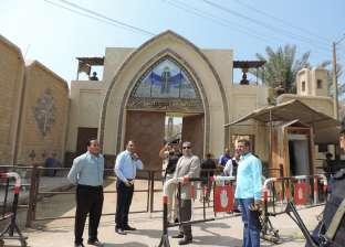 بالصور: مدير أمن الفيوم الجديد يتفقد قوات تأمين دير العزب
