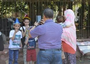 """حديقة الحيوان في أول أيام """"الأضحى"""".. """"العيد فرحة"""""""
