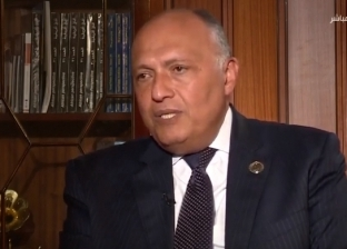 سامح شكري: نطالب بمحاسبة داعمي الإرهاب والتطرف في ليبيا بطريقة علنية