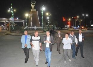 محافظ المنيا يتفقد مداخل وبوابات المدينة لمتابعة أعمال التطوير