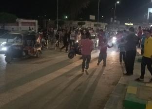 احتفالات في شوارع المحلة بعد الفوز على الأهلي (صور)