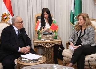 """رئيس """"الوفد"""" يستقبل سفيرة البرتغال بـ""""بيت الامة"""""""
