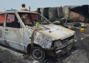 إصابة سائق بحروق متفرقة إثر احتراق التاكسي الخاص به في المنصورة