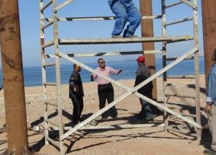 رئيس مدينة أبورديس يتفقد أعمال تطوير بحيرة الشاطئ العام بجنوب سيناء