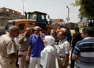 بالصور| إزالة 12 حالة تعد على أملاك الدولة في محافظة الغربية