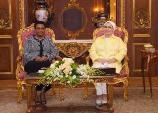 انتصار السيسي تستقبل قرينة رئيس بوروندي