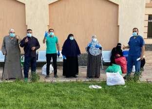 خروج 7 مصابين من مستشفى عزل ملوي لتعافيهم من كورونا