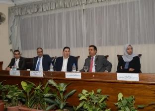 بالصور| نائب رئيس جامعة عين شمس يلتقي الطلاب الليبيين الوافدين