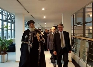 تواضروس يصل إلى بروكسل لزيارة البرلمان الأوروبي