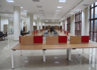 رئيس جامعة كفرالشيخ يتفقد تجهيزات المكتبة المركزية