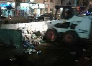 بالصور| تكثيف حملات النظافة الليلية بمدينة دمياط