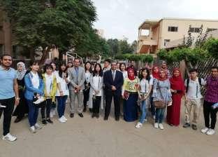 وفد طلابي من جامعة بكين للغابات الصينية يزور جامعة بنها
