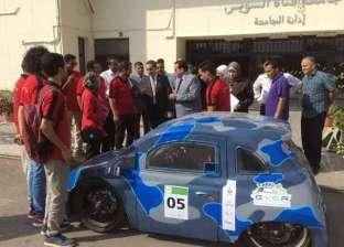 """رئيس جامعة القناة يستقبل طلاب الهندسة الفائزين في """"رالي القاهرة للسيارات"""""""