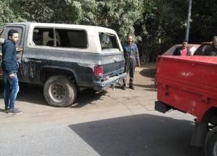 رفع 35 سيارة ودراجة نارية متروكين في الشوارع والطرق الرئيسية بالقاهرة