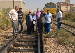 """""""السكة الحديد"""": حملة مرور على خطوط وورش منطقة غرب الدلتا"""