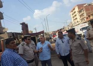 صور.. تحرير 323 مخالفة مرافق وإشغالات و65 حواجز خرسانية بطنطا والمحلة