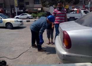 التحفظ على سيارتين في حملة قياس العوادم مخالفة للمواصفات بكفر الشيخ