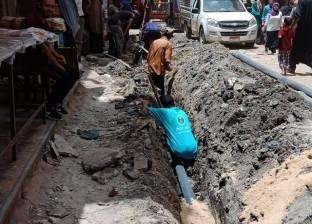إجراء أعمال صيانة في شبكات المياه بمركز سمالوط بالمنيا