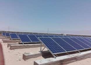 بالصور| تحويل 3 آبار بسهل القاع في طور سيناء للعمل بالطاقة الشمسية