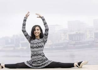 جلسة تصوير تشجع على رقص الباليه فى شوارع المنصورة