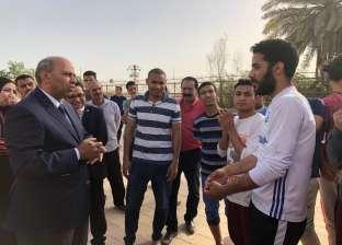 رئيس جامعة المنيا يتابع سير العمل بالمنشآت والمدن الجامعية