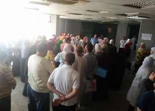 وقفة احتجاجية لتمريض مستشفى التأمين الصحي ببني سويف