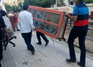 حملة لإزالة إشغالات الطريق بحي وسط الإسكندرية