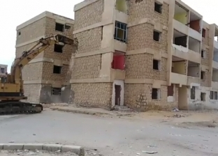 إزالة 3 عمارات بحي فيصل في السويس لخطورتها على السكان