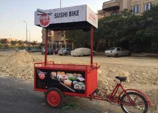 """بالفيديو  """"Sushi Bike"""" أول """"عجلة"""" لبيع المأكولات البحرية.. """"سوشي في الشارع"""""""