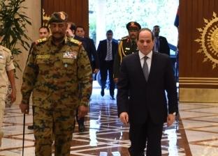 رئيس المجلس العسكري السوداني يغادر القاهرة بعد لقائه الرئيس السيسي