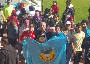 طالبات جامعة طنطا يحصدن المركز الثاني في سباق الطريق للجامعات المصرية