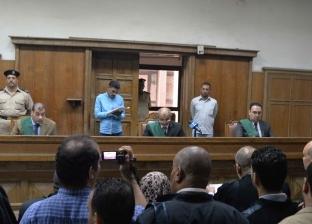 وصول زوجة المتهم بقتل طفليه بميت سلسيل للمحكمة انتظارا لجلسة المحاكمة
