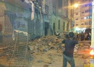 انهيار عقار مكون من 4 طوابق بفيصل دون خسائر في الأرواح