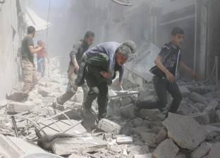 الطيران السوري يلقي 14 براميلا متفجرا على الأحياء السكنية في مخيم خان الشيخ