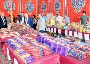 """نائب رئيس جامعة طنطا يفتتح معرض """"أهلا رمضان"""" للسلع الغذائية"""
