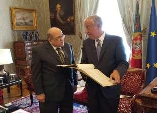 """رئيس البرتغال لـ""""الفقي"""": علاقتي متميزة بالسيسي وسأزور مكتبة الإسكندرية"""
