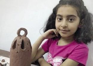 طفلة مسيحية تهدى صديقاتها فوانيس فخار: عملتها بإيدى