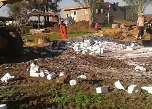إزالة 9 حالات تعد على أراض زراعية في أبو حمص بالبحيرة