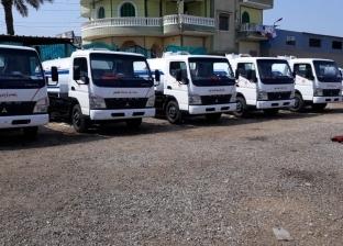 محافظة القليوبية تتسلم 10 سيارات كسح لتوزيعها على مدن المحافظة