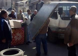 حملة مكبرة لإزالة الاشغالات بحي شرق في الإسكندرية
