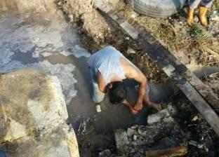 كثافات مرورية في صلاح سالم بسبب كسر ماسورة مياه