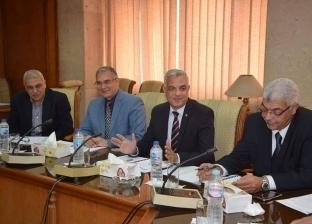 القائم بأعمال رئيس جامعة المنوفية يترأس لجنة المنشآت الجامعية