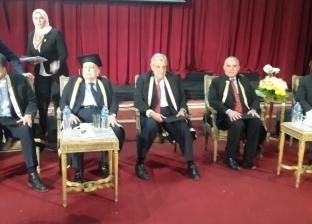 بالصور| بدء الاحتفال بيوم المهندس المدني بحضور محلب وعدد من الوزراء