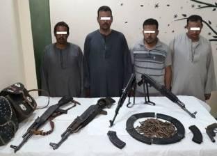 ضبط 5 مزارعين بحوزتهم أسلحة نارية غير مرخصة في أسيوط
